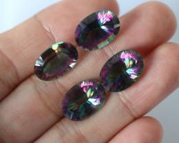 18 cts Four Mystic Quartz Oval Cut  Gemstones BU 2653