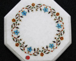 Taj Mahal  White marble gemstone Tops MIG 008