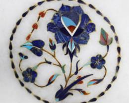 Taj Mahal  White marble gemstone Tops MIG 016
