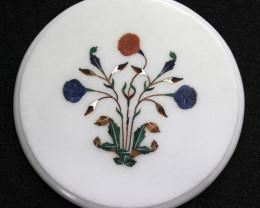 Taj Mahal  White marble gemstone Tops MIG 019
