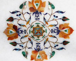 Taj Mahal  White marble gemstone Tops MIG 020