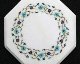 Taj Mahal  White marble gemstone Tops MIG 022