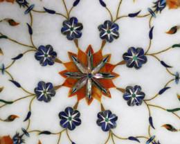 Taj Mahal  White marble gemstone Tops MIG 025