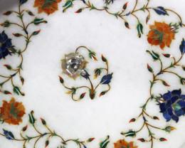 Taj Mahal  White marble gemstone Tops MIG 026