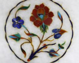 Taj Mahal  White marble gemstone Tops MIG 028