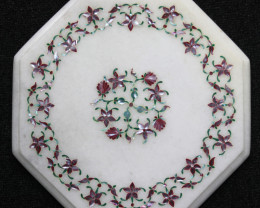 Taj Mahal  White marble gemstone Tops MIG 029