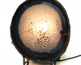 0.314kg Sliced Brazilian Crystal Agate Lamp J51