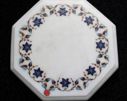 Taj Mahal  White marble gemstone Tops MIG 031