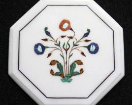Taj Mahal  White marble gemstone Tops MIG 033