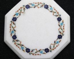 Taj Mahal  White marble gemstone Tops MIG 034