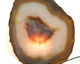 1.023kg Sliced Brazilian Crystal Agate Lamp J52