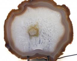0.942kg Sliced Brazilian Crystal Agate Lamp J56
