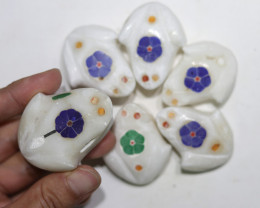 Cute FROG family marble Gemstone carvingsBu 2640