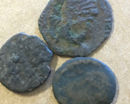 Find your Own treasures   Three ancient coins Uncleaned CP 390
