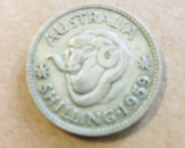 1959 ONE SHILLING  Silver Coin CP 38