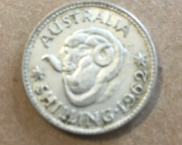 1962 ONE SHILING Silver Coin CP 399