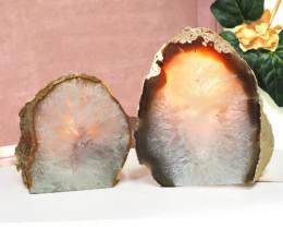 1.39kg Agate Crystal Lamp With Tea Light  J61