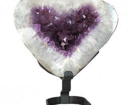 23kg Amethyst Crystal Geode Heart DS141