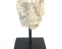 Clear Quartz Rough On Metal Stand