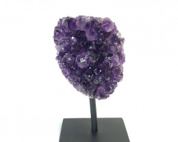 Amethyst Rough On Metal Stand