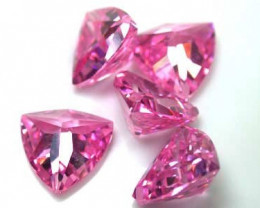 PARCEL CZ PINK FACETED STONES 5 PIECES 12.10CTS G1576