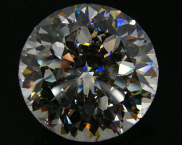 567 MASSIVE FACETED GEMSTONE (SYNTHETIC DIAMOND )   0357-1