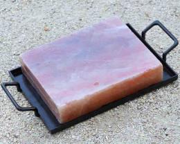 Large Himalayan Salt Cooking Block with Tray