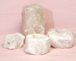 1.99kg Rose Quartz Crystal Lamp Set 4 pieces S382