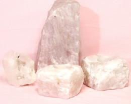 3.2kg Rose Quartz Crystal Lamp Set 4 pieces S387