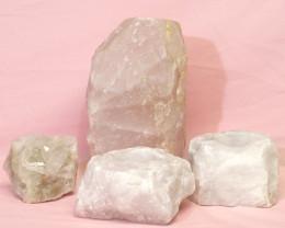 2.3kg Rose Quartz Crystal Lamp Set 4 pieces S389