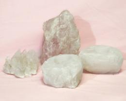 1.8kg Rose Quartz Crystal Lamp Set 4 pieces S392
