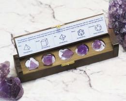 Gemstone Geometric Amethyst Box