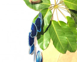 Wind Chime Brazil Agate Blue Slices – SM