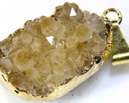 23.45 - CTS NATURAL CITRINE DRUSY PENDANT  RJA-106