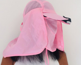 Dust/Smoke Practicle Pink Hat  with Free LED light  H 4