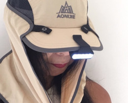 M,or F Outdoor wind n sun protection cap ,free LED lamp   H 4