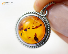 2Cts Baltic Amber Sale, Silver Pendant - AM 2085