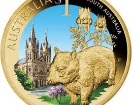2009 CELEBRATE SOUTH AUSTRALIA COIN WOMBAT