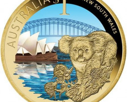2009 NSW Koala,Sydney harbour,Opera house Celebrate Australia