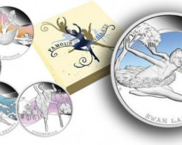 Five   Famous Ballets 1oz Silver Proof Coin Set 2013