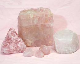 Divine Rose Quartz Crystal Set J287