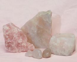 Divine Rose Quartz Crystal Set J312