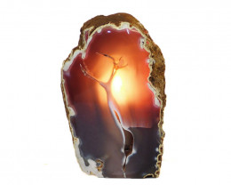 1.3kg Agate Crystal Lamp J362