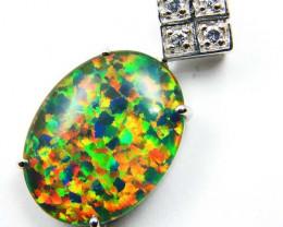 Stunning Man made Opal Pendant MYJA 1004