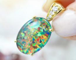 Stunning Man made Fire Opal Pendant   GTJA 1000