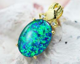 Stunning Man made Fire Opal Pendant GTJA 1005