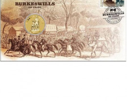 Burke & Wills Stamp and Coin Cover 2010