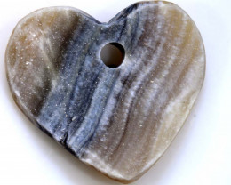 34.50 -CTS DRUSY PENDENTS DRILLED HEART SHAPE  RJA-575