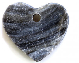 35 -CTS DRUSY PENDENTS DRILLED HEART SHAPE  RJA-577