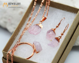 5 Piece Rose Quartz  Jewelry set $99 for $10.00  Ring Size T